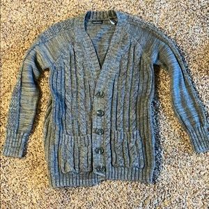 Knitted button up sweater